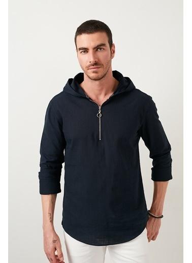 Buratti Buratti Kapüşonlu Erkek Gömlek CF21S112214 Lacivert